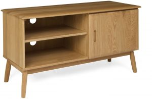 Malmo Scandi Style Oak 1 Door TV Cabinet