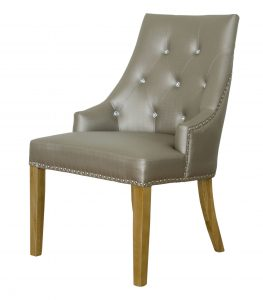 Marjukka Stone Crystal Button Back Dining Chair (Pair)
