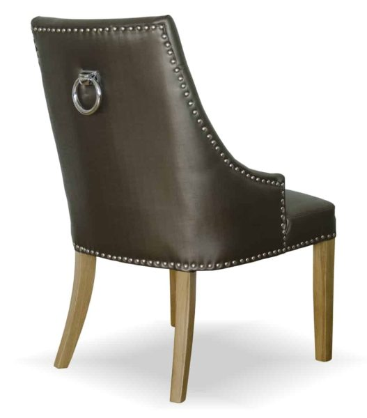 Marjukka Tungsten Crystal Button Back Dining Chair (Pair)