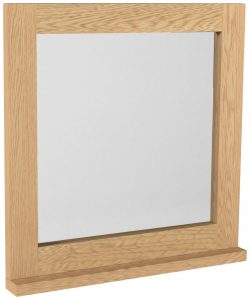 Classic Fusion Industrial Oak Dressing Table Mirror