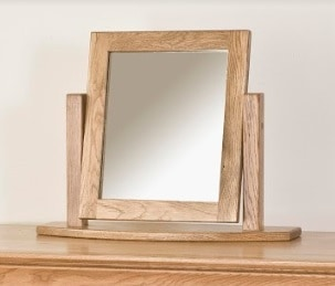 Normandy French Solid Oak Dressing Table Mirror