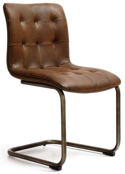 Industrial Dining Chair – button back-vintage-vintage frame