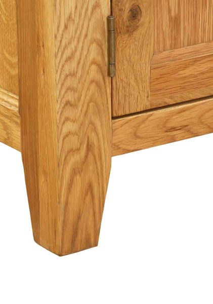 Besp-Oak Vancouver Oak Sideboard with 2 Doors | Fully Assembled