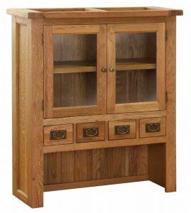 Besp-Oak Vancouver Oak 4 Drawer 2 Door Small Dresser (Top Only) | Fully Assembled