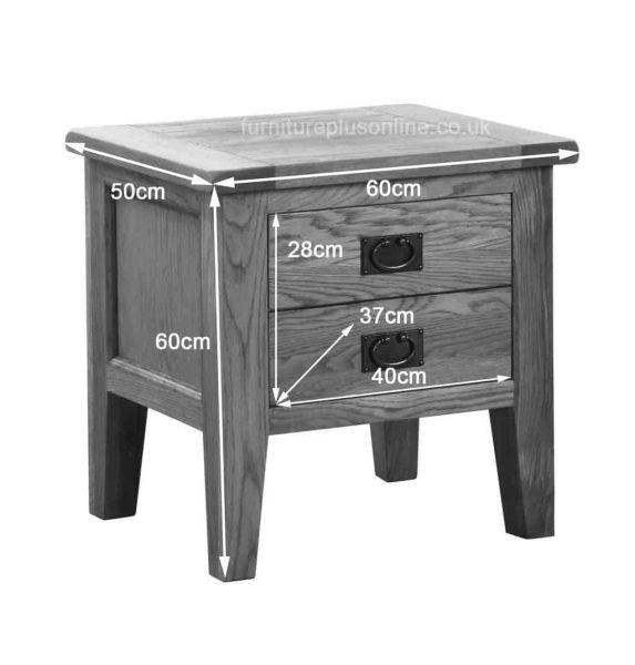 Besp-Oak Vancouver Oak VSP 1 Drawer Lamp Table   Fully Assembled