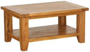 Besp-Oak Vancouver Oak Rectangular Coffee Table | Fully Assembled