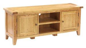 Besp-Oak Vancouver Oak Large 2 Door TV Unit | Fully Assembled
