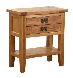 Besp-Oak Vancouver Oak 1 Drawer Console Hall Table | Fully Assembled