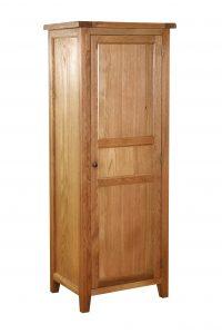 Besp-Oak Vancouver Oak Full Hanging Single Wardrobe with 1 Shelf