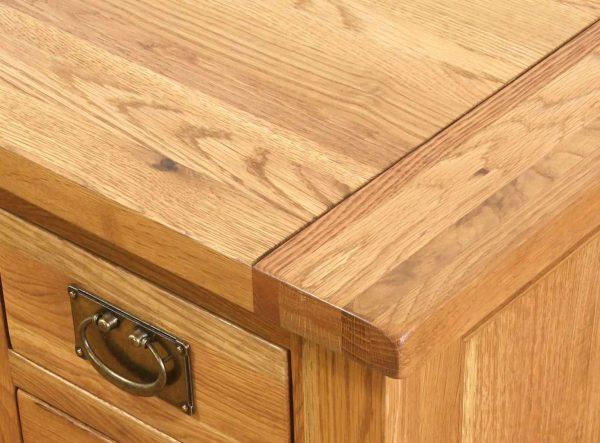 Besp-Oak Vancouver Oak 3 Drawer 3 Door Buffet Sideboard   Fully Assembled