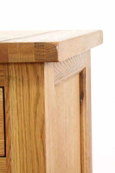 Besp-Oak Vancouver Oak Single Pedestal Computer Desk   Fully Assembled