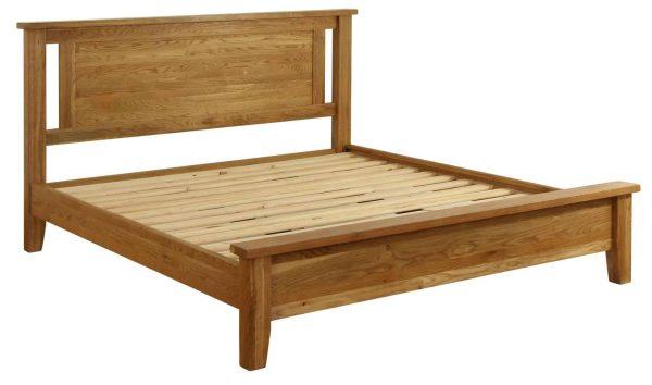 Besp-Oak Vancouver Oak Low End 5′ King Size Bed