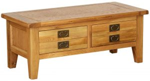 Besp-Oak Vancouver Oak Medium 2 Drawer Coffee Table | Fully Assembled