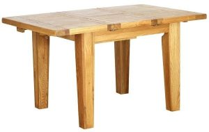 Besp-Oak Vancouver Oak 1m -1.4m Extending Dining Table