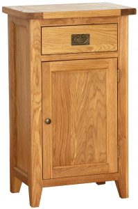 Besp-Oak Vancouver Oak Hall Table with 1Door 1 Drawer   Fully Assembled