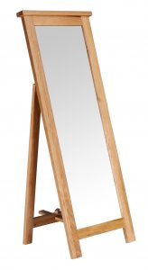 Besp-Oak Vancouver Oak Free Standing Mirror | Fully Assembled