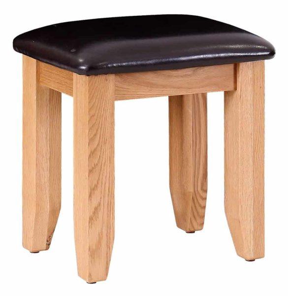 Besp-Oak Vancouver Oak Dressing Table Stool
