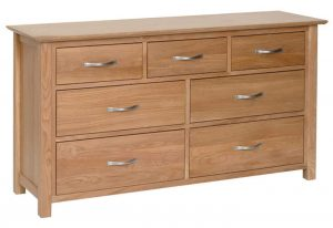 Devonshire New Oak 3 over 4 Chest of Drawers | Fully Assembled
