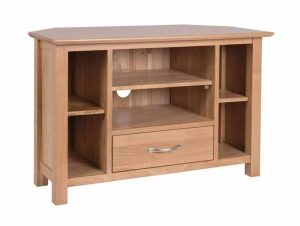 Devonshire New Oak Corner TV Cabinet | Fully Assembled