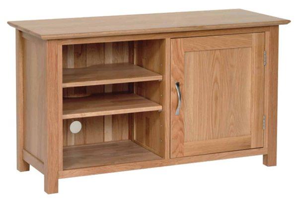 Devonshire New Oak Standard 1 Door TV Cabinet | Fully Assembled