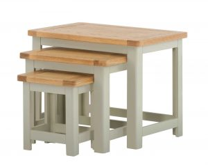 Classic Portland Painted Stone Nest of Tables