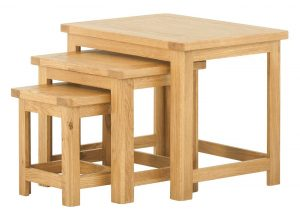 Classic Portland Oak Nest of Tables