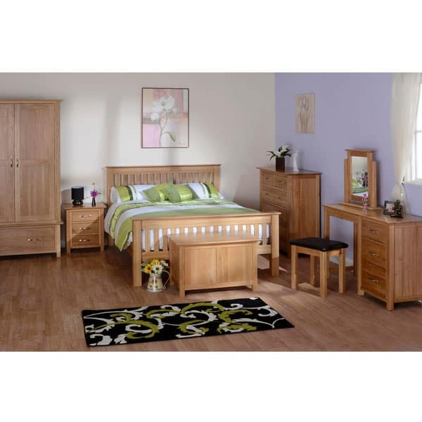 "Devonshire New Oak 4'6"" Low Foot End Double Bed"