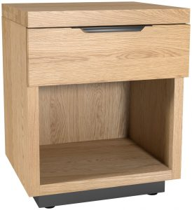 Classic Fusion Industrial Oak 1 Drawer Bedside Cabinet