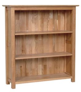 Devonshire New Oak Low Bookcase With 3 Shelves | Fully Assembled