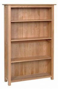 Devonshire New Oak Bookcase 4ft 9 Tall With 4 Shelves| Fully Assembled