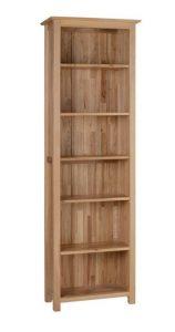 Devonshire New Oak 6ft Slim Bookcase With 6 Shelves | Fully Assembled