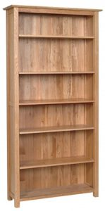 Devonshire New Oak Large Bookcase with 5 Shelves | Fully Assembled