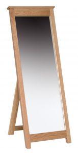 Devonshire New Oak Cheval Mirror