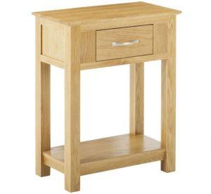 Classic Nordic Oak Small Console Table