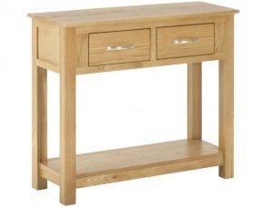 Classic Nordic Oak Console Table