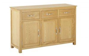 Classic Nordic Oak 3 Drawer 3 Door Sideboard