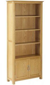 Classic Nordic Oak Bookcase with Cupboard