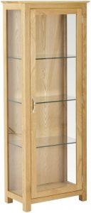 Classic Nordic Oak Glass Display Cabinet