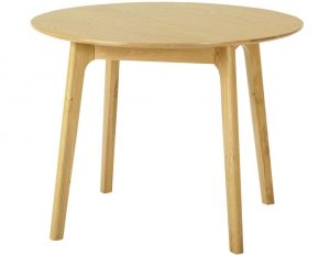 Classic Nordic Oak Round Dining Table