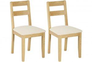 Classic Nordic Oak Low Back Chair (Pair)