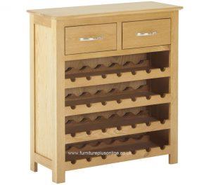 Classic Nordic Oak Wine Cabinet