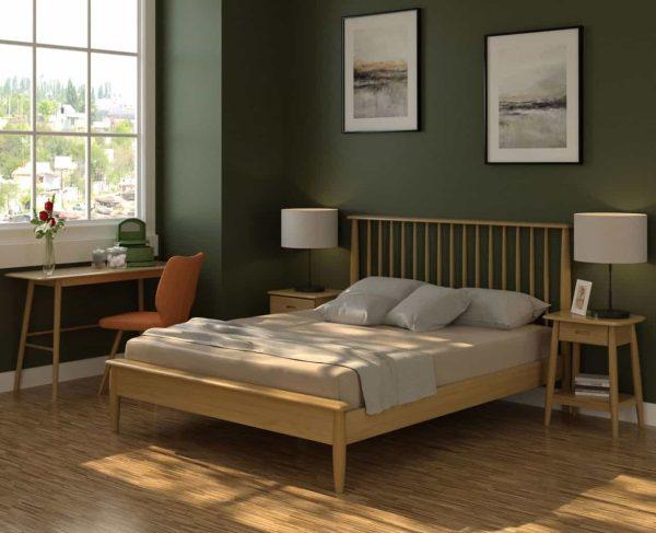 Malmo Scandi Style Oak 2 Door Wardrobe