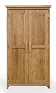 Homestyle Opus Solid Oak 2 Door CD/DVD Storage Cupboard | Fully Assembled