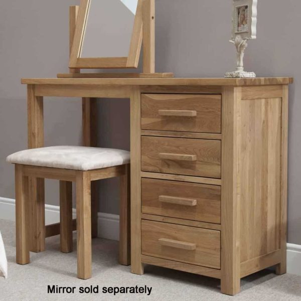 Homestyle Opus Solid Oak 3 Drawer Dressing Table and Stool | Fully Assembled