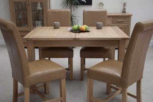Homestyle Opus Oak 2 Leaf Extending Dining Table