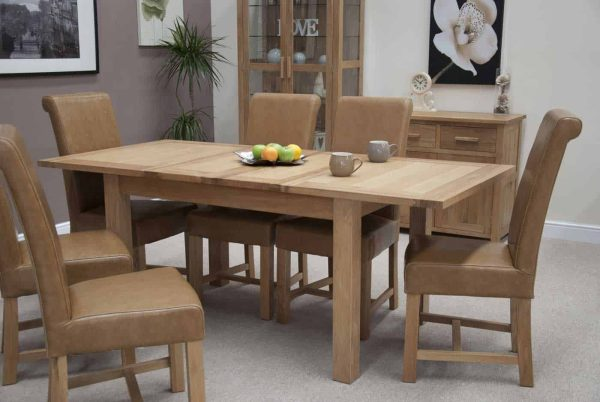 Homestyle Opus Oak 2 Leaf Extending Dining Table