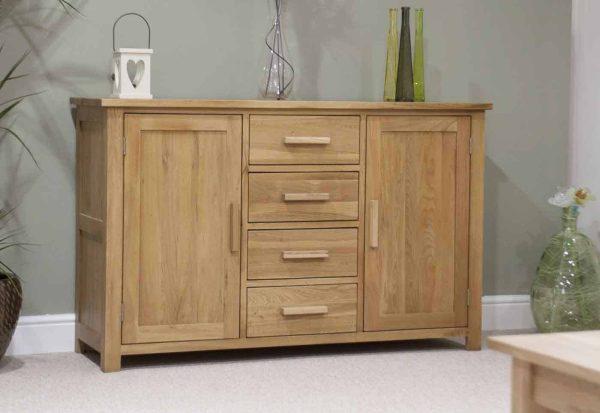Homestyle Opus Solid Oak 2 Door 3 Drawer Large Sideboard | Fully Assembled