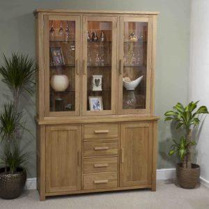 Homestyle Opus Solid Oak Large Dresser With Lights (Complete Unit)