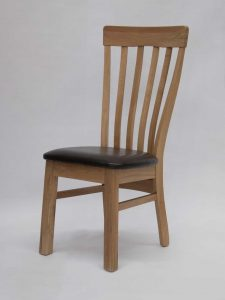Lucia Oak Dining Chair (Pair)