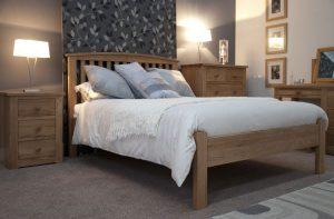 Homestyle Opus Solid Oak 3′ Single Bed